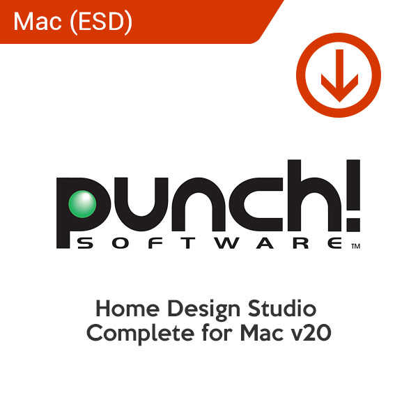 punch home Design Studio complete for mac v20 esd