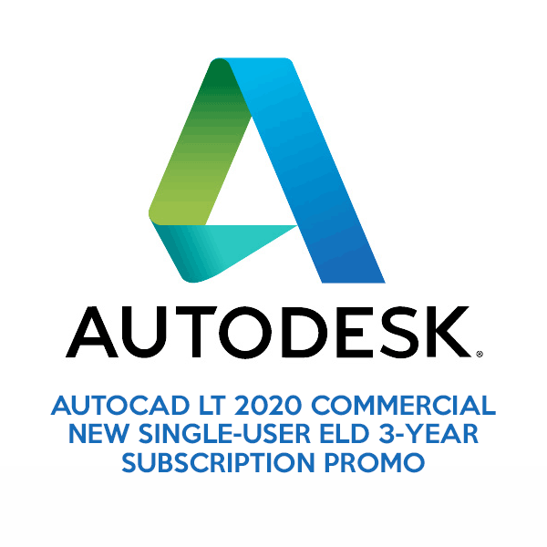AutoCAD LT 2020 Commercial New Single-User ELD 3-Year Subscription Promo